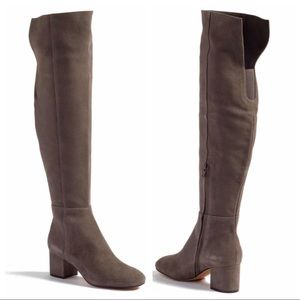 Halogen Over the Knee Gray Boots 8